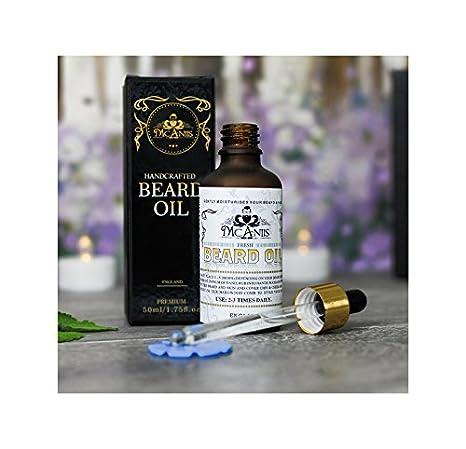 Aceite de barba para hombre negro puro y natural, increíblemente bueno para piel sensible y aroma a barba larga con aceite de eucalipto refrescante: ...