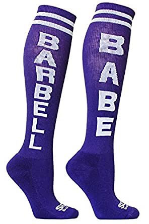 The Sox Box Barbell Babe Socks! - Purple