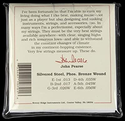 John Pearse 700M Phosphor Bronze Acoustic Guitar Strings by John Pearse.