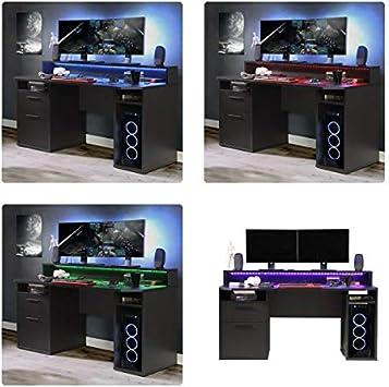 RASANTI Gamer Tisch PC Schreibtisch TZRB213 TEZAUR von Forte