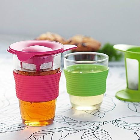 Cr RC 12.3oz 350 ML Mango té Taza, con Filtro colador de té ...