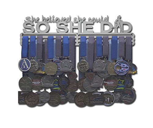 "Allied Medal Hanger - She Believed She Could So She Did (18"" wide with 3 hang bars)"