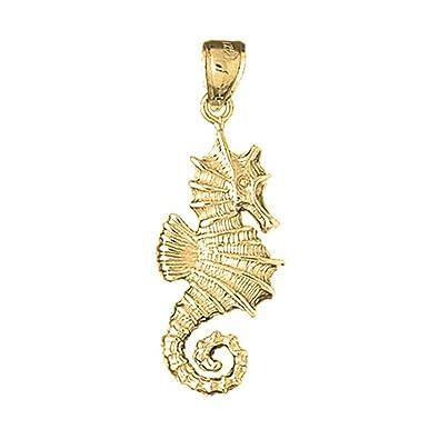 14k Yellow Gold Seahorse Pendant