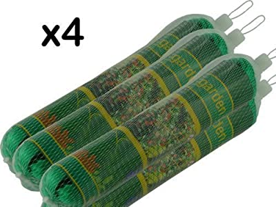 4 x NEW GARDEN NETTING - EACH 2m x 10m - FINE STRONG MESH - CAN BE CUT TO REQUIRED SIZE - PROTECT SEEDLINGS / VEGETABLES / SOFT FRUITS / PLANTS / PONDS - BRAND NEW by We Search You Save