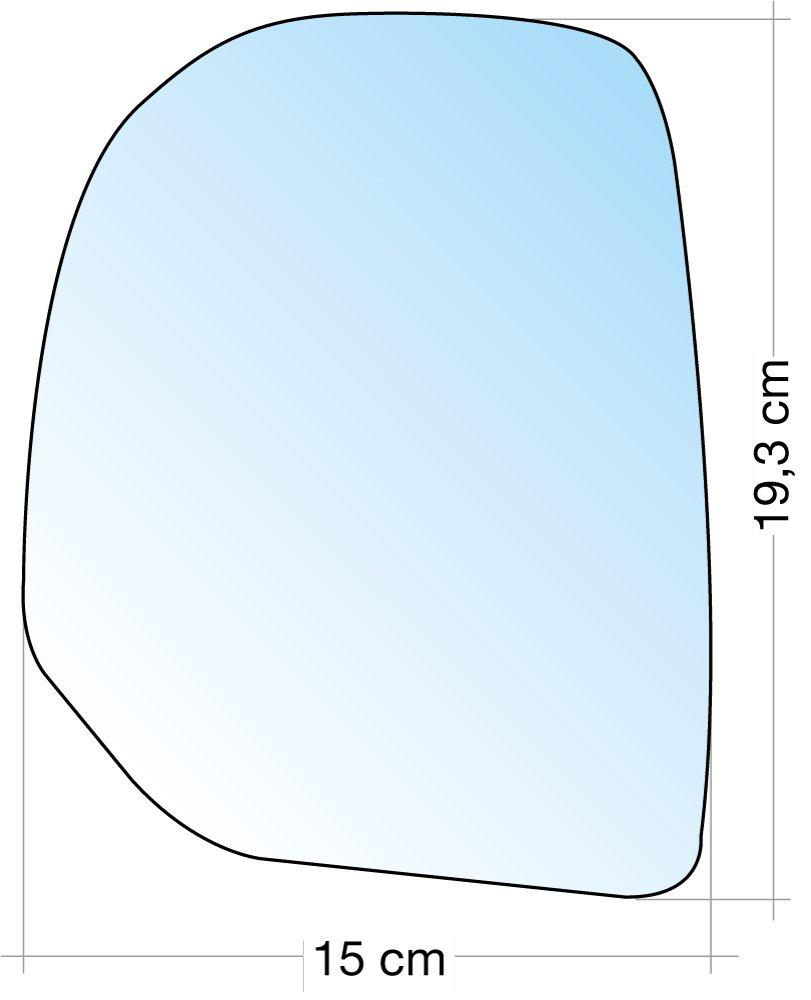 Cora 3310109 Specchio con Piastra SX Cromato