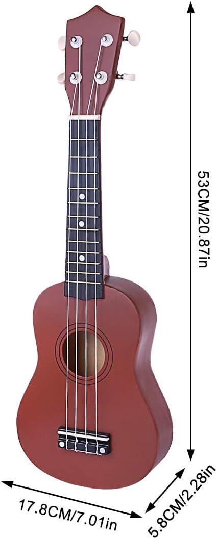Batop Ukulele Kinder Kaffee Ukulele aus Holz Mini Kindergitarre Musikinstrument Kinder und Anf/änger