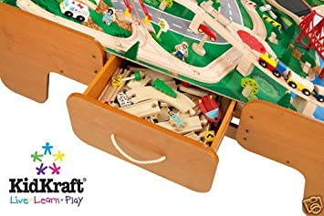 Amazing Kidkraft Limited Edition Waterfall Mountain Train Table And Train Set  W/drawers