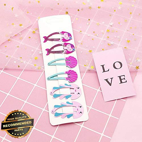 Gatton Premium New 6Pcs/set Cute Kids Watermelon Mermaid BB Hair Clips Baby Hairpins Headwear Gifts | Style HRCL-M182012591