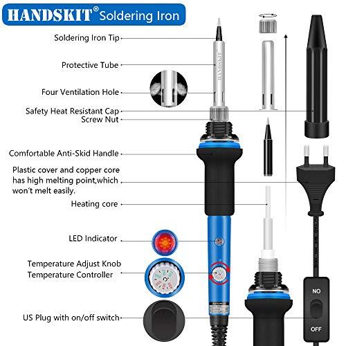 Soldador, mano Skit Set de soldadura, 11 en 1 - Set de soldador 【 Nueva versión de 】, Azul: Amazon.es: Bricolaje y herramientas