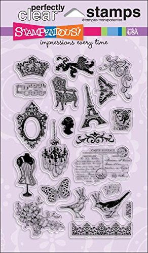 STAMPENDOUS Perfectly Clear Stamp Set, Charm Collection Image ()