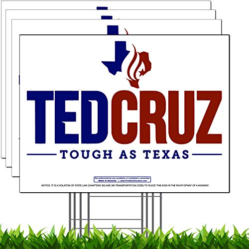 (Vibe Ink Ted Cruz for Texas Senate Campaign Yard Sign (4 Pack))