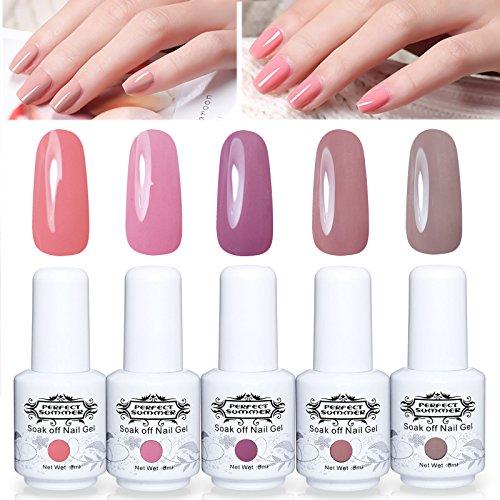 Perfect Summer Gel Nail Polish Set 5 Colours Gel Varnish UV