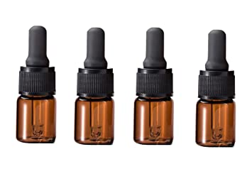 2c67dad3226b 6PCS Amber Glass Dropper Bottles With Grey Dropper Cap-Essential Oil  Perfume Makeup Cosmetic...