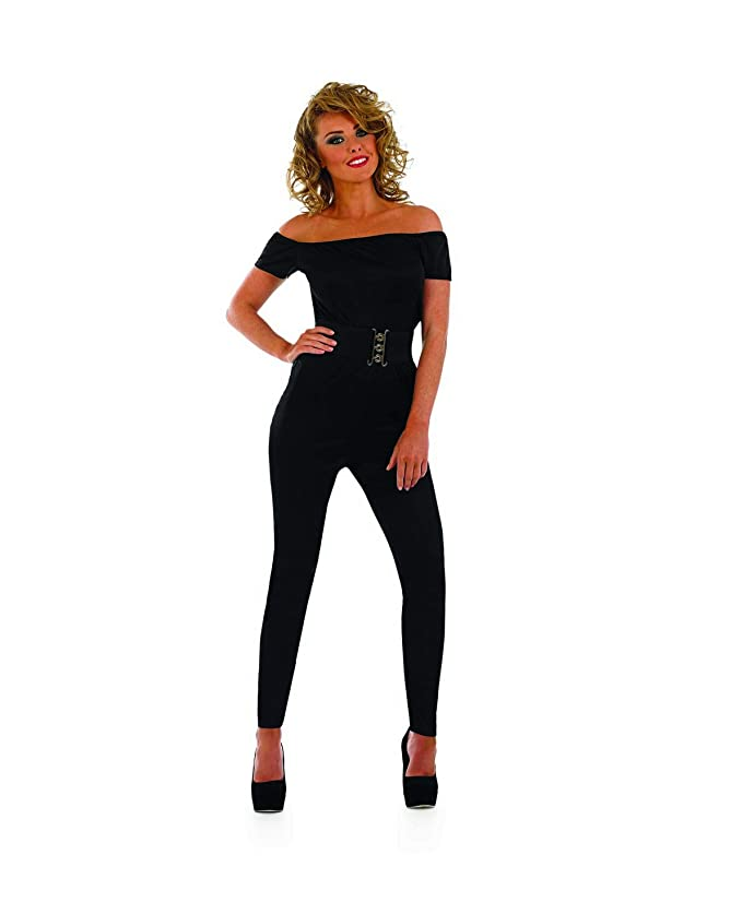 Hippie Costumes, Hippie Outfits Womens 70s Movie Iconic Black Catsuit Costume Adults Jumpsuit Outfit $19.95 AT vintagedancer.com