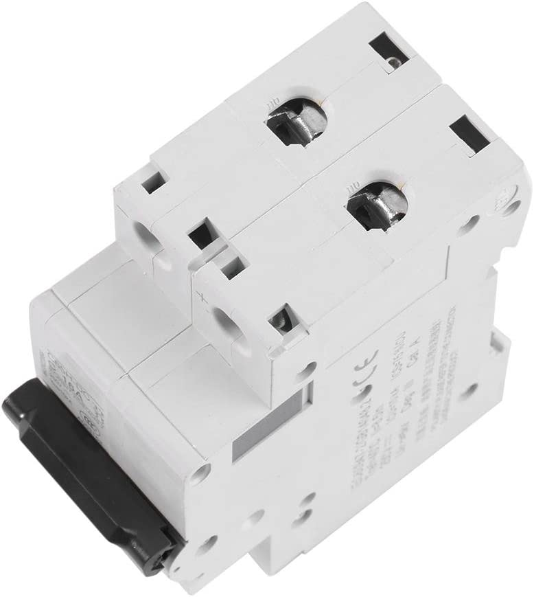 Filfeel DC Circuit Breaker 1pc 250V DC 2P Low-Voltage Miniature Air Circuit Breaker Solar Energy Switch 16A//32A//63A 16A