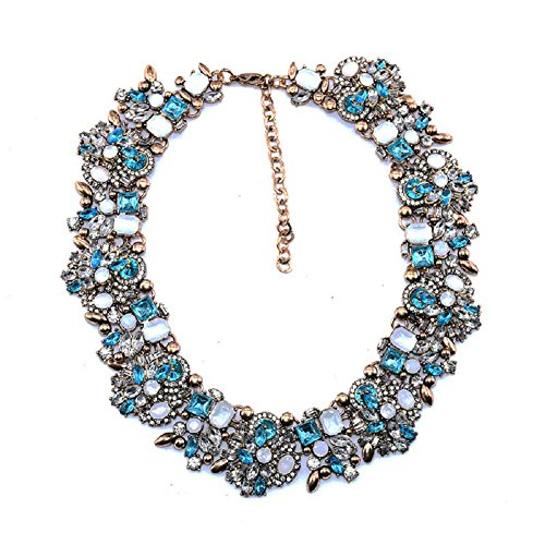 light blue crystal necklace - 4
