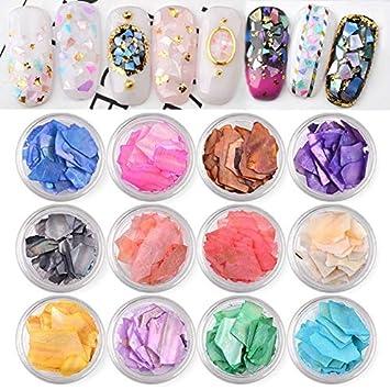 Amazon.com: Accesorios para decoración de uñas – 12 colores ...