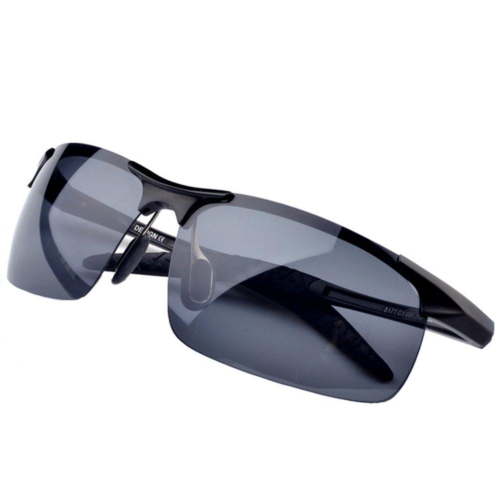 368570dbf3e Amazon.com  MOTELAN Men s Polarized Sunglasses for Driving Fishing Golf  Metal Glasses UV400 Black  Clothing