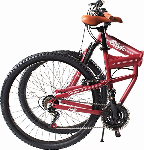 Columbia Bicycles Compax 26'' Men's 21-Speed Folding Mountain Bike, 18''/One Size by Columbia Bicycles (Image #2)