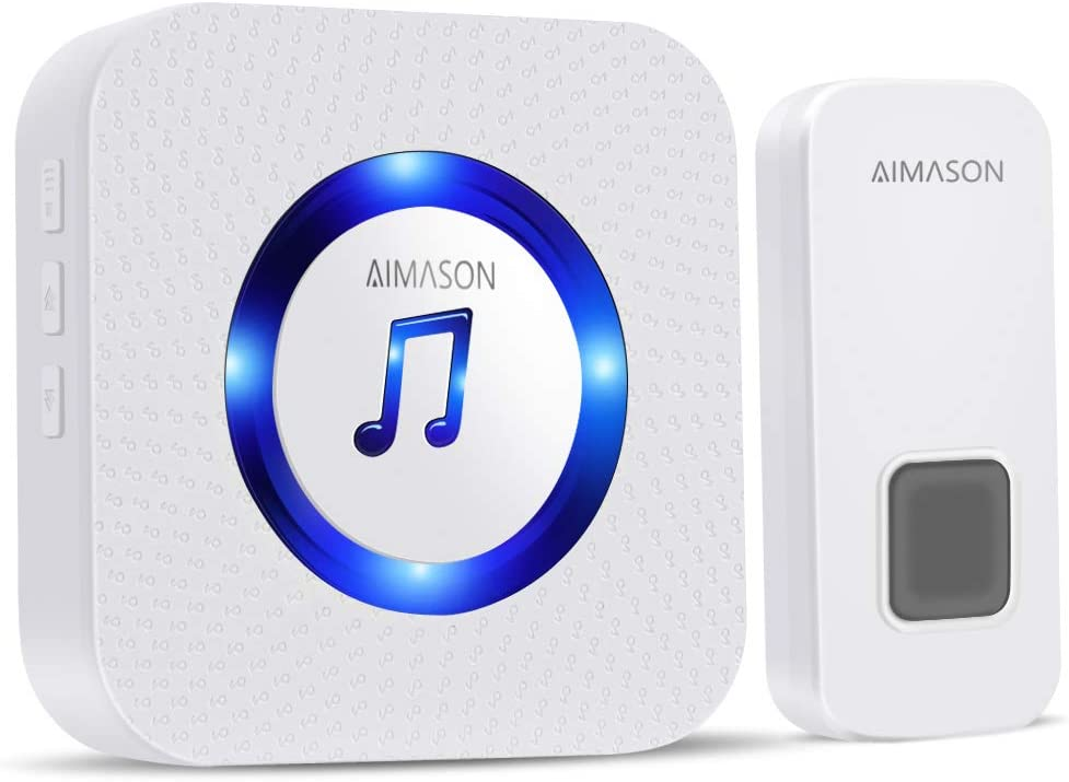Plug-in LED Wireless Doorbell Chime Home Remote Control with 2 Digital Receivers