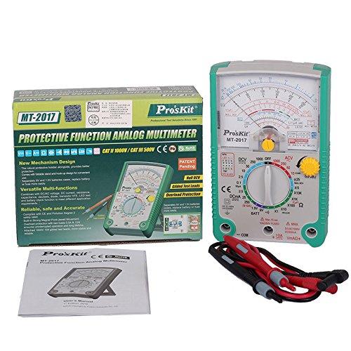 Pro39;skit MT-2017 Analog Multimeter Safety Standard Professional Ohm Test Meter DC AC Voltage Current Resistance Analog Multimeter