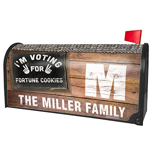 NEONBLOND Custom Mailbox Cover I'm Voting for Fortune Cookies Funny -