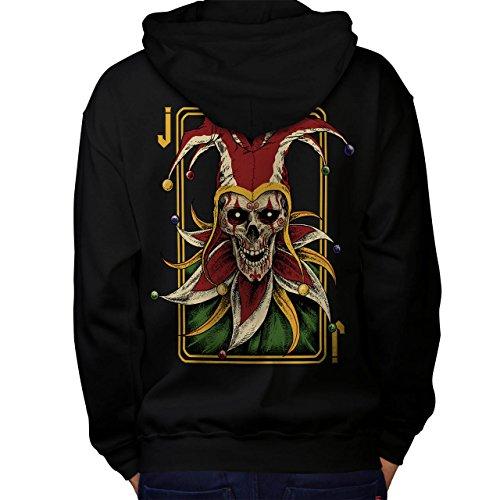 Joker Card Horror Skull Men L Hoodie Back   (Horror Joker)