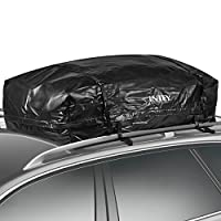 INTEY Waterproof Roof Top Cargo Bag Luggage Travel Bag (24 Cubic Feet) for Cars, Vans and SUVs