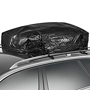 INTEY Waterproof Roof Top Cargo Bag Luggage Travel Bag 15/20 Cubic Feet for Cars, Vans and SUVs (L(20 Cubic Feet))
