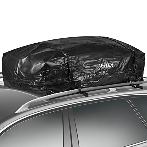 INTEY Cargo Bag Rooftop Cargo Carrier Waterproof Car Roof Storage 20 Cubic Feet for Car, Van and SUV