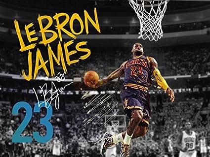 754fb9cf55a07 777 Tri-Seven Entertainment Lebron James Poster Cleveland Cavaliers 23  Photo Art Print, ((24x18)