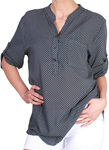 Unbekannt - Camisas - Lunares - para mujer gris