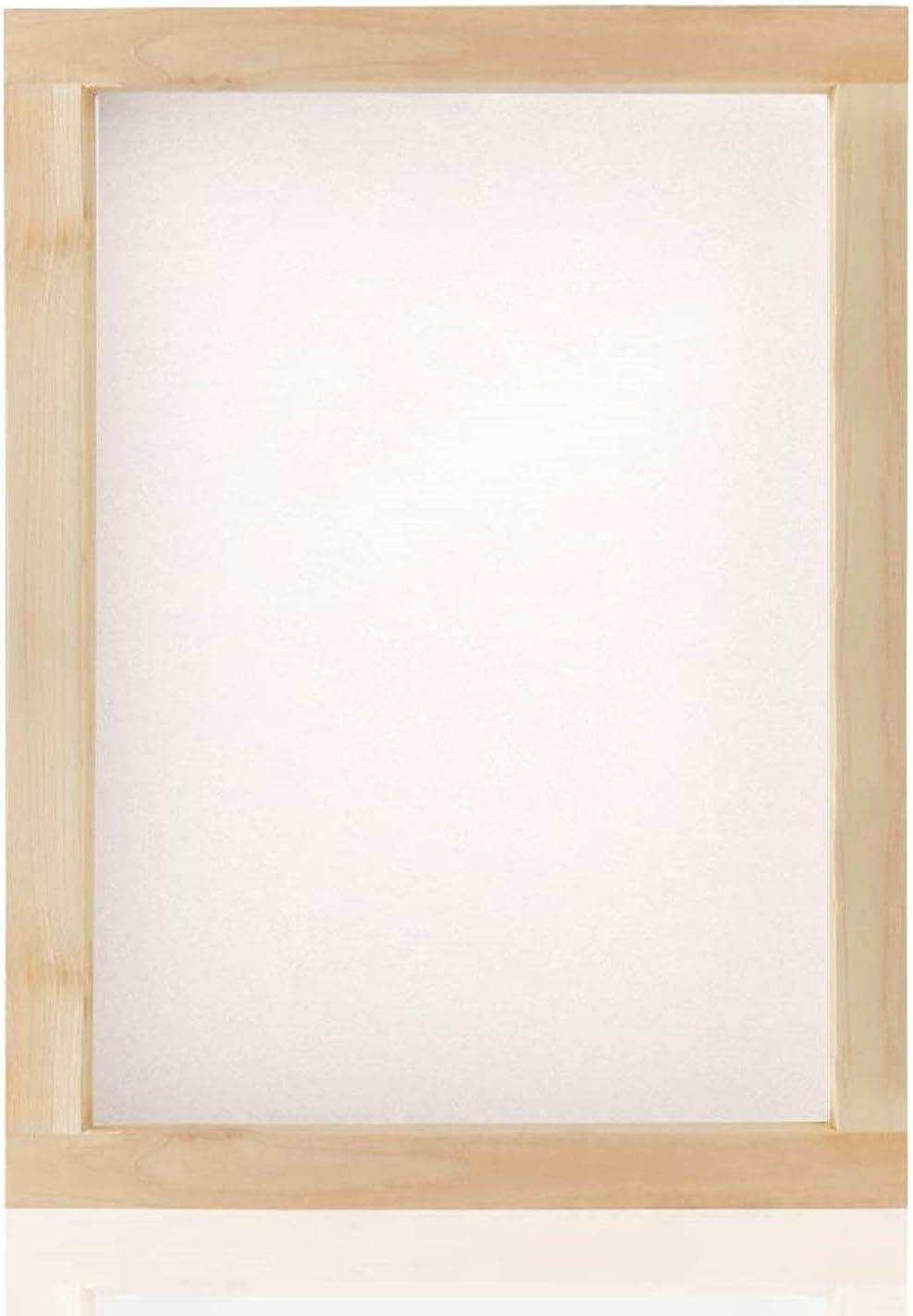 Kit de impresión de serigrafía, pantalla de seda con marco de seda y kit de rasqueta simple para principiantes 1 marco pequeño.
