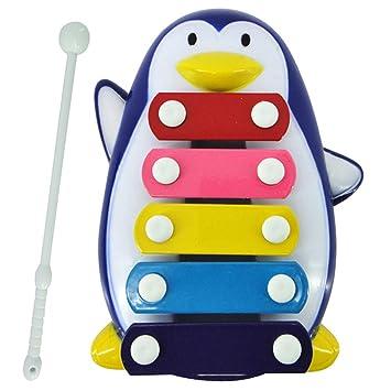 Velvxkl Funny Baby Enfants 5 Tons Dessin Anime Pingouin Xylophone