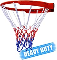 Basketball Net, Basketball Net Replacement, Multi Color Basketball Net for Outdoors Sport,All-Weather Heavy Du