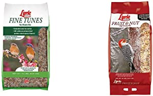 Lyric 2647440 Fine Tunes No Waste Bird Seed Mix, 15 lb & 2647417 Fruit & Nut High Energy Wild Bird Food, 20 lb