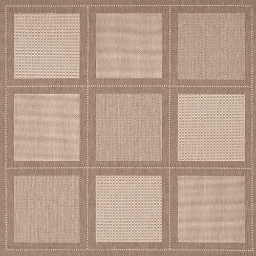 Couristan Recife Summit Natural - Couristan 1043/3000 Recife Summit 7-Feet 6-Inch Square Rug, Natural Cocoa