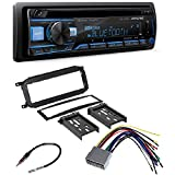 Alpine CDE-172BT, CD Player Car Stereo, Bluetooth, USB/Aux with CAR Radio Stereo CD Player Dash Install MOUNTING Trim Bezel Panel KIT + Harness for Dodge Chrysler Jeep 2002-2007
