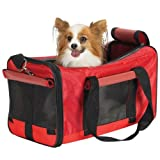 Casual Canine Polyester Duffle Bag Pet Carrier, Red, My Pet Supplies
