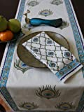 Dance O Peacock ~ Ivory Peacock Feather Elegant Fancy Napkins