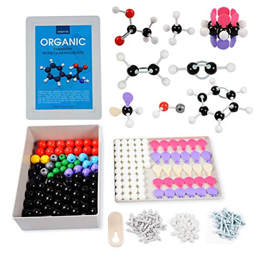 Organic Chemistry Model Kit (307 PCS) - Armyte Chemistry Molecular Model for Teacher Student and Young People Academic Chemistry Education, Pack with Atoms, Bonds, Electron Orbital (Colorful) (Best Molecular Model Kit)