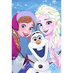 DIY 5D Diamond Painting Kit, 16″X12″ Frozen Elsa Anna Round Full Drill Crystal Rhinestone Embroidery Cross Stitch Arts Craft Canvas for Home Wall Decor Adults and Kids