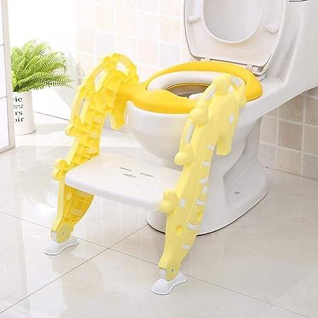 Ludage WC bebé WC infantiles apoyo escalera WC plegable y acolchado sentado-anillo: Amazon.es: Hogar
