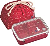 May flower tight box lunch bag with drawstring (Red) PCL-1 + KB-1 (japan import) by OSK