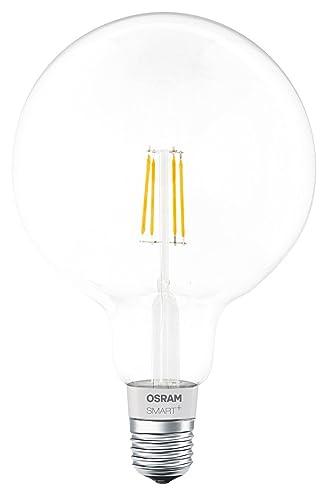 Osram Smart Bombilla Led Globo Filamento Regulable E27, 5.5 W, Blanco