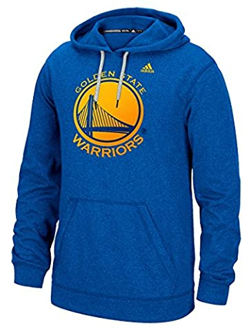 Golden State Warriors Royal Adidas Dotted Fade Synthetic Climawarm Hoodie Sweatshirt (Medium)