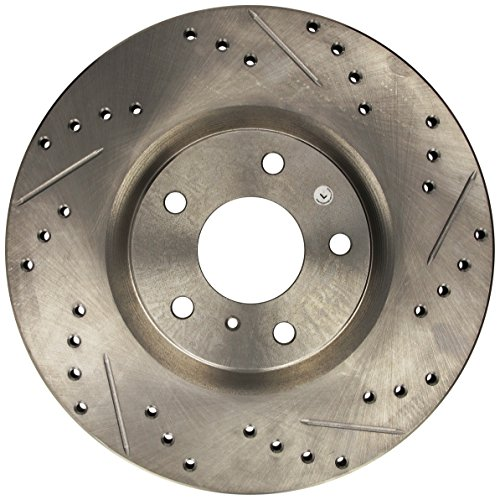 Rotor Front Slotted Stoptech (StopTech 227.42080L Select Sport Drilled and Slotted Brake Rotor; Front Left)