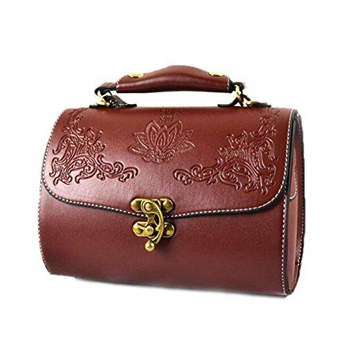 Catkit Vintage Womens Floral Antique Totes Handbag Shoulder Bag Brown