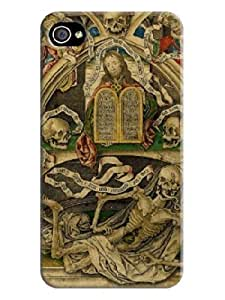 at the first sight you will love it for iphone 4/4s Beautiful Skull Arts Background image case cover #1