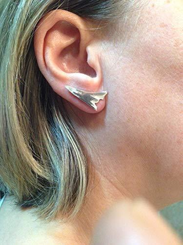 nuevo estilo brillo de color captura Pendientes trepadores de plata 925, Pendientes ear cuffs ...